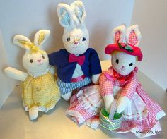 Cloth Doll PDF Pattern Wibble Wabbits Soft Cloth by PeekabooPorch, $9.00