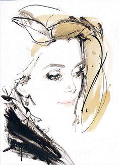 Catherine Deneuve, Paris 1999, by David Downton