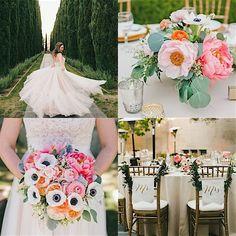 Modernly Romantic California Wedding - MODwedding Fairytale Wedding Day of Gal Wedding Greystone Mansion Wedding Bluebell Florals Huntington Catering RedShoe LA DJ My One Love photography