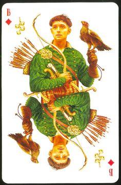 "Vladislav Erko_Young falconer_Card deck ""Tavern. Taras Bulba""_ (Колода карт ""Корчма. Тарас Бульба"")_2005"