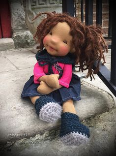 Mira-natural fiber art doll by Mon Petit Frère Little Pet Shop Toys, Doll Shop, Doll Tutorial, Fabric Dolls, Rag Dolls, Waldorf Dolls, Boy Doll, Soft Dolls, Doll Crafts