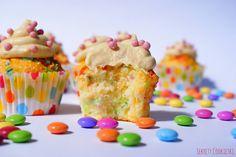 """Sekrety Cookietki: Tęczowe cupcake'i - """"Sio smutki"""""""