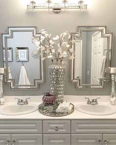 Bathroom Decor spa ideas home decored bathroom spa Bathroom Spa, Bathroom Interior, Master Bathroom, Bathroom Ideas, Small Bathroom, Bathroom Organization, Elegant Bathroom Decor, Disney Bathroom, Restroom Ideas