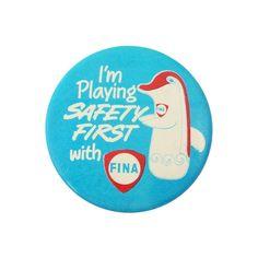 1970s Fina Petrol British Advertising Badge