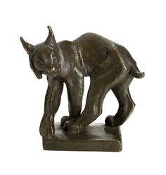 """** Jussi Mäntynen (Finnish 1886-1978), """"Lynx"""" Sculpture,  Patinated Bronze. Lynx, Cat Art, Art Decor, Art Nouveau, Lion Sculpture, Bronze, Statue, Eurasian Lynx, Sculpture"""