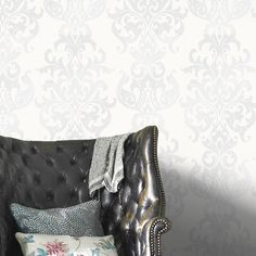 Versaille White Wallpaper by Graham and Brown
