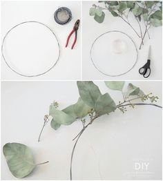 Eukalyptus kranssi White Christmas, Diy Tutorial, Wedding Hairstyles, Diy And Crafts, Plant Leaves, Wreaths, Seasons, Flowers, Plants