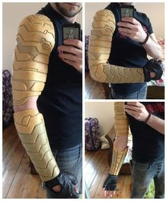 Winter Soldier Arm Tutorial - By Sketch McDraw - COSPLAY IS BAEEE! Tap the pin now to grab yourself some BAE Cosplay leggings and shirts! From super hero fitness leggings, super hero fitness shirts, and so much more that wil make you say YASSS! Cosplay Tutorial, Cosplay Diy, Best Cosplay, Halloween Kostüm, Halloween Cosplay, Bucky Barnes, Winter Soldier Cosplay, Soldier Costume, Mode Costume