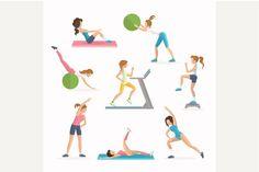 Aerobics fitness exercises @creativework247