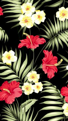 Designer tropical fabric at wholesale prices Tropical Wallpaper, Summer Wallpaper, Cute Wallpaper Backgrounds, Flower Wallpaper, Screen Wallpaper, Pattern Wallpaper, Cute Wallpapers, Tropical Fabric, Tropical Art