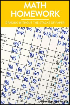 Grading math homework doesn't have to be a hassle. Read how to grade and organize it efficiently with a homework agenda. | maneuveringthemid...