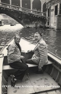 Venezia, Hemingway e Ivancich sul Canal Grande 1960 ca.