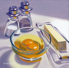 """""""Eggs and Butter""""   Sold by Leigh-Anne Eagerton, painting, via Flickr"""