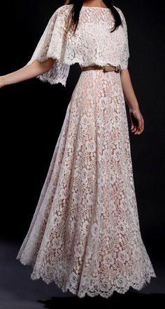 lace..cape like drape