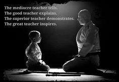 THE GREAT TEACHER INSPIRES