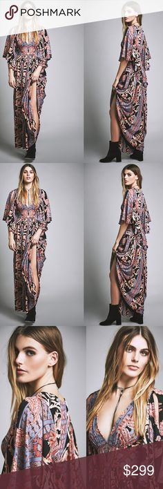 NEW Free People Printed Fern Maxi Dress MSRP $350 Free People Printed Fern Maxi Party Dress Size 8 Style: 37694684 Beautifully sweeping maxi dress featuring V-neckline and flutter sleeves. Waist tie detailing and full skirted silhouette for a dramatic effect. Hidden side zip for an effortless fit. Fully lined. 100% Polyester. Absolutely stunning Free People dress. This dress is new with tags still attached. Still listed on Free People website but this size is sold out for good reason. It's…