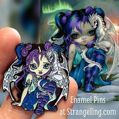 Frost Dragonling Pins are IN STOCK $12.99 http://www.strangeling.com/product-category/collectible-enamel-pins/?orderby=date  - or join the Pin Club - http://Patreon.com/jasminebecketgriffith  #jasminebecketgriffith #strangeling #fantasyart #art #painting #bigeyes #bigeyeart #bigeyedart #newcontemporary #strangelingpins #fairy #fairyart #lapelpin #popsurrealism #lowbrowart #lapelpin #pingame #pintrader #enamelpins #pintrading #patreon #dragonling #dragon #dragons #artistpins #fairypin…