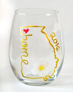 Love my home state painted wine glass. https://www.etsy.com/listing/452856292/georgia-home-state-wine-glass-georgia