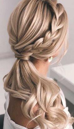 Wedding Ponytail Hairstyles, Elegant Hairstyles, Bride Hairstyles, Easy Hairstyles, Ponytail For Wedding, Hairstyle Ideas, Ponytail Bridal Hair, Grunge Hairstyles, Ponytail Updo
