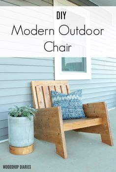 DIY Modern Outdoor Chair--Building Plans and Tutorial! - DIY Modern Outdoor Chair–Building Plans and Tutorial! DIY Modern Outdoor Chair–Building Plans and Tutorial! Modern Outdoor Chairs, Outdoor Furniture Plans, Diy Garden Furniture, Furniture Projects, Rustic Furniture, Modern Furniture, Outdoor Decor, Furniture Movers, Furniture Stores