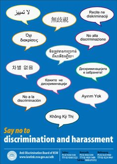 multi language discrimination poster