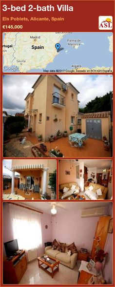 3-bed 2-bath Villa in Els Poblets, Alicante, Spain ►€145,000 #PropertyForSaleInSpain