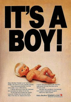 1975 Mattel Baby Brother Tenderlove anatomically correct doll.
