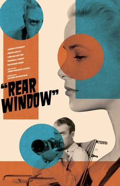 "BROTHERTEDD.COM - mikesapienza: My ""Rear Window"" film poster. Now... Window Poster, Window Film, Rear Window, Mandalorian Poster, Street Film, Film Poster Design, Framed Wall Art, Vintage Posters, Poster Prints"