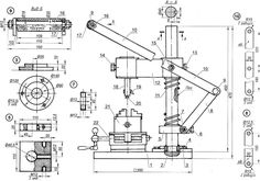 Приспособление (ручной станок) для долбления шпоночных пазов и шлицов