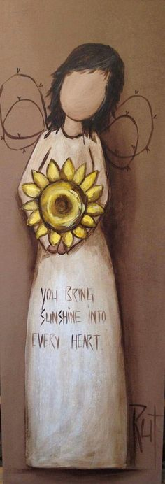You bring sunshine into every heart ♥️ Angel Pictures, Art Pictures, Angel Drawing, Angel Art, Art Journal Inspiration, Whimsical Art, Rock Art, Painted Rocks, Art Projects