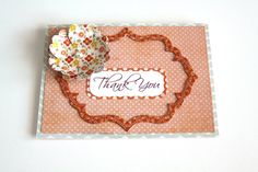Handmade Card Thank You Card  Vintage Style by Summertimedesign, $4.00
