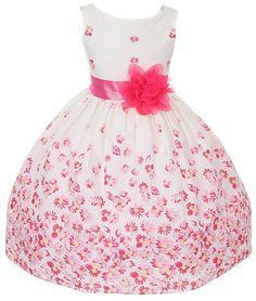 Kids Dream 100% Cotton Floral Spring Easter Flower Girl Dress (Orange)
