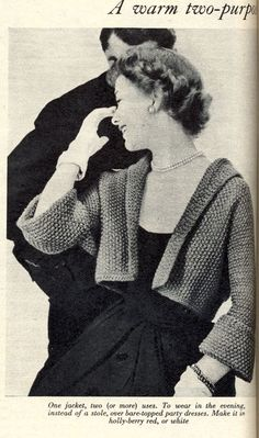 Vintage Chic: Cropped Jacket Knitting Pattern