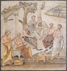 Platons Akademie _ Mosaik Pompeji