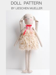 | This Miri Doll Pattern by LIESCHEN MUELLER is a pattern to make your little one a MIRI Bunny with Love |