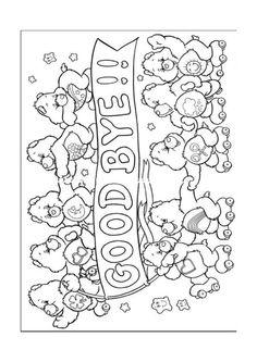 Desenhos para colorir para crianças. Desenhos para imprimir e colorir Ursinhos Carinhosos 6