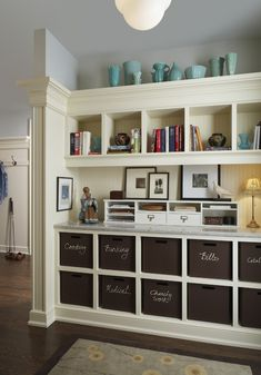 I don't know about the laundry room but maybe in the home office.// Traditional Laundry Room Design, Pictures, Remodel, Decor and Ideas - page 11 Craft Room Design, Laundry Room Design, Craft Space, Laundry Rooms, Laundry Closet, Small Laundry, Craft Rooms, Office Storage, Office Organization
