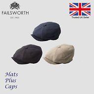 7dbdf873f22 Failsworth Irish Linen Summer Newsboy Cap Gatsby Peaky Blinders Alfie Hat  Newsboy Cap