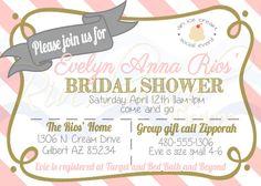 Printable Bridal Shower Ice Cream Social Invitation / Vintage Parlor Inspired