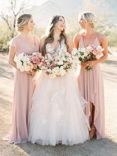 Gorgeous shade of pink for bridesmaid dresses
