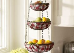 6 DIY Storage Ideas For Small Spaces. Kitchen BasketsHanging BasketsWire BasketsHanging  Vegetable ...