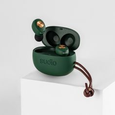 Sudio - Elegance & Premium Sound Earbuds With Mic, Bluetooth Earbuds Wireless, Noise Cancelling, Galaxy, Green And Orange, Cell Phone Accessories, How Are You Feeling, Easy Listening, Mobile Phones