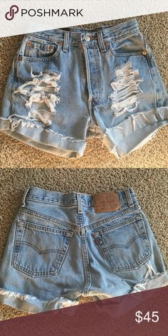 Vintage Levi's cutoffs Vintage Levi's denim cutoffs. Purchased at Urban Outfitters. Label says size 28 but Levi's run smaller especially Vintage so it fits a size 25. No trades. These do not fit me anymore so I will not be able to provide an accurate picture of them on. Lighter wash. I am open to any offers :) Levi's Shorts Jean Shorts