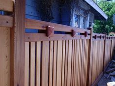 Craftsman style clear cedar fence in Mission Hills
