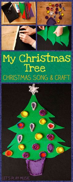 Let's Play Music - My Christmas Tree - Simple Song & Craft to keep little ones busy during Advent