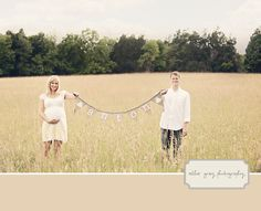 baby name banner, maternity photos
