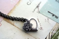 Want... army. heart locket necklace. silver ox.