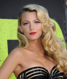 Long retro hair - Absolutely love... Not to mention Blake Lively is gorgeous!