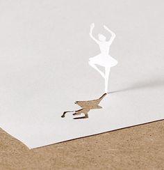 Paper Dancer 3d Paper Art, Origami Paper Art, Quilling Paper Craft, Paper Crafts, Kirigami, Paper Cutting, Cut Paper, 3d Art Painting, Shadow Art