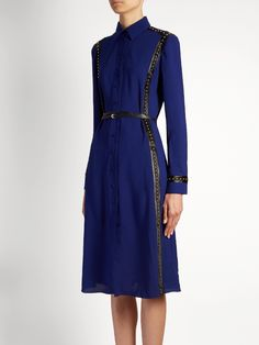 Click here to buy Altuzarra Bandido stud-embellished crepe shirtdress at MATCHESFASHION.COM